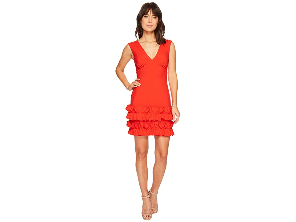 Nicole Miller Ruffle Dress (Papaya) Women