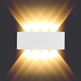 BELLALICHT Applique murale LED 8 W Interieur Lampe Murale en aluminium Étanche Pour salon chambre couloir escalier - Blanc...
