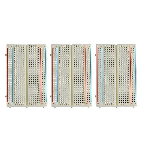 Neuftech 3 x 400 puntos de contacto Breadboard Experimental Protoboard placa de pruebas para Raspberry Pi