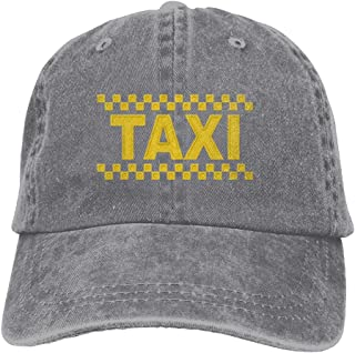 7eef1b683 FS DM CAP Taxi Driver Cab Embroidery Unisex Cotton Denim Hat Washed Retro Gym  Cap
