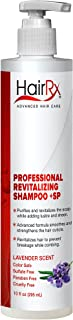 HairRx Professional Revitalizing Shampoo +SP (for Oily Scalps) with Pump, Luxurious Lather, Lavender Scent, 10 Ounce
