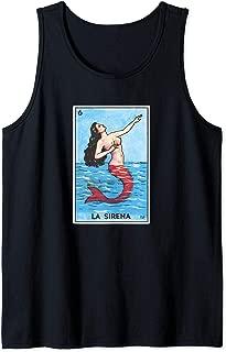 La Sirena Card Loteria Mexican Bingo Mermaid Tank Top