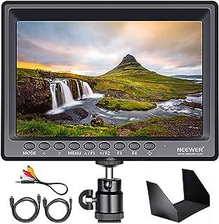 Neewer F100 7 tum 4k 1280 x 800 IPS skärmkamera fältmonitor med 1 mini HDMI-kabel för BMPCC, AV-kabel för FPV, 16:10 eller...