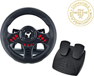 Subsonic - Volant Racing Wheel Universal avec pédalier pour Playstation 4  - PS4 Slim - PS4 Pro - Xbox One - Xbox one S - PS3 [Importación francesa]