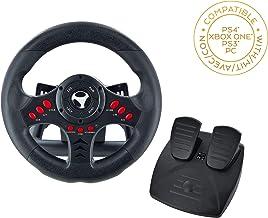 Subsonic - Volant Racing Wheel Universal avec pédalier pour Playstation 4  - PS4 Slim - PS4 Pro - Xbox One - Xbox one S - PS3 [Importación francesa]