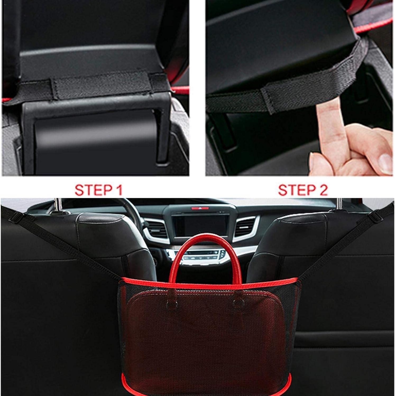 Yunhigh 2020 New Upgrade Car Net Pocket Handbag Holder,Car Mesh Organizer Between Seats,Seat Back Net Bag for Purse Storage /& Pocket 1#; Luxury Barrier of Backseat Pet Kids