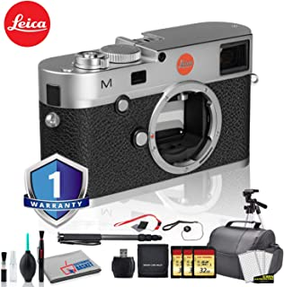 Leica M (Typ 240) Digital Rangefinder Camera (Silver) Bundle with 1 Year Extended Warranty + 3X 32GB Memory Card + Editing Software Kit + Tripod + White Balance Cards Set and More