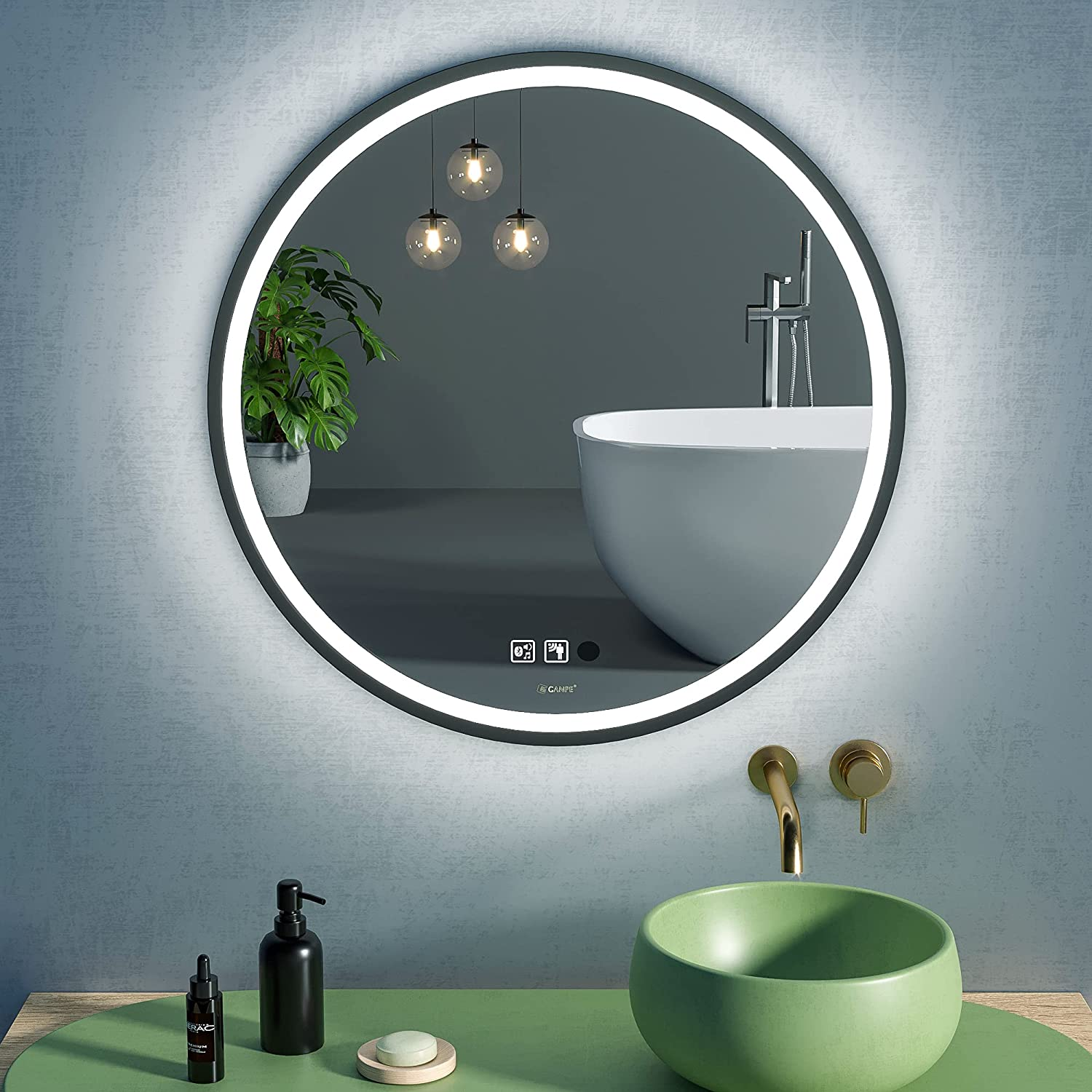 Buy Led Bathroom Mirror Makeup Vanity Mirror Wall Mounted 28 Inch Large Modern Round Illuminated Dimmable Memory Touch Anti Fog Ip44 Waterproof Sensor Mirror Online In Poland B08tbcy4vy