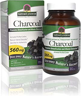 Nature's Answer Activated Charcoal Vegetarian Capsules | Naturally Promotes Detoxification & Waste Elimination | Vegan, Gl...