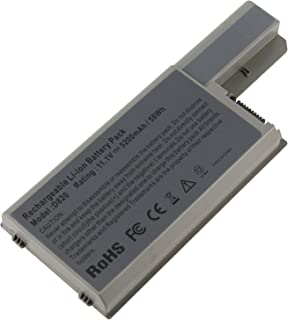 Futurebatt 6Cell 5200mAh Laptop Battery For Dell Latitude D820 D830 D531 Precision M65 M4300, fits P/N CF623 DF192 FF232 MM165-12 Months Warranty