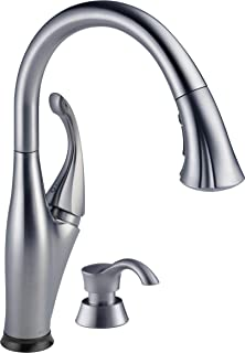 DELTA Addison Single-Handle Touch Kitchen Sink Faucet with Pull Down Sprayer, Soap Dispenser, Touch2O Technology and Magne...
