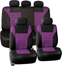 FH Group FH-FB068115 Premium 3D Air Mesh Seat Covers Full Set (Airbag & Split Ready), Purple/Black Color- Fit Most Car, Truck, SUV, or Van