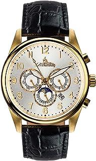 Richtenburg - R11300_Gold/Schwarz - Reloj para Hombres, Correa de Cuero Color Negro