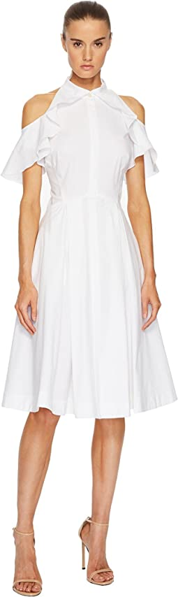 Zac Posen - Cotton Poplin Cold Shoulder Dress
