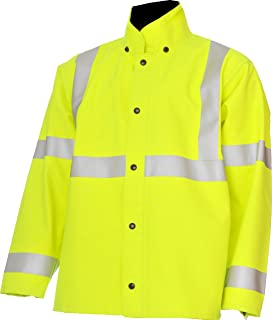 """product image for WaterShed 939A3011-LM-MED StormShield Snap Storm Front Waterproof GORE-TEX Jacket with Cuff and Hood Snaps, 30"""" Length, Medium, Lime Green"""