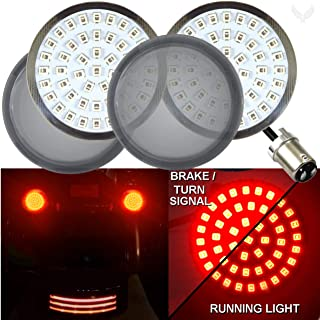 Eagle Lights Generation II 2 inch LED 1157 Red Turn Signals (Rear Turn Signals, Add Smoke Lenses) for Harley Davidson bullet style