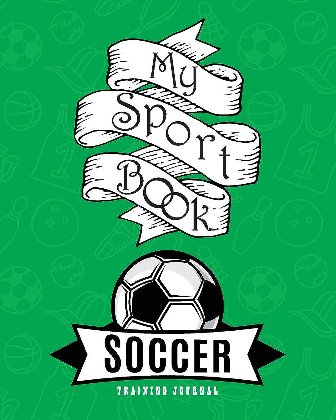 露ビュッフェかわいらしいMy sport book - Soccer training journal: 200 pages with 8