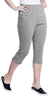 Roamans Women's Plus Size Soft Knit Capri Pant