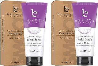 Face Scrub Exfoliating Face Wash - With Organic Aloe Vera, Gel Face Cleanser & Pore Exfoliator for Women & Men, Facial Scr...