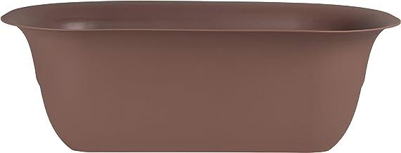 "Bloem Modica Deck Rail Planter 24"" Chocolate"