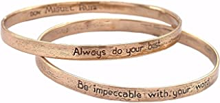 The Four Agreements Reminder Bangle Set