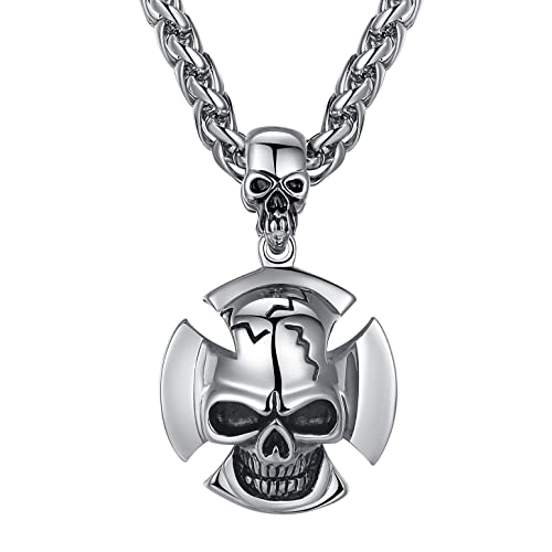 Necklaces & Pendants Fashion Jewelry Biker Vintage Stainless Steel Doubled Necklace With 7 Animal Pendants