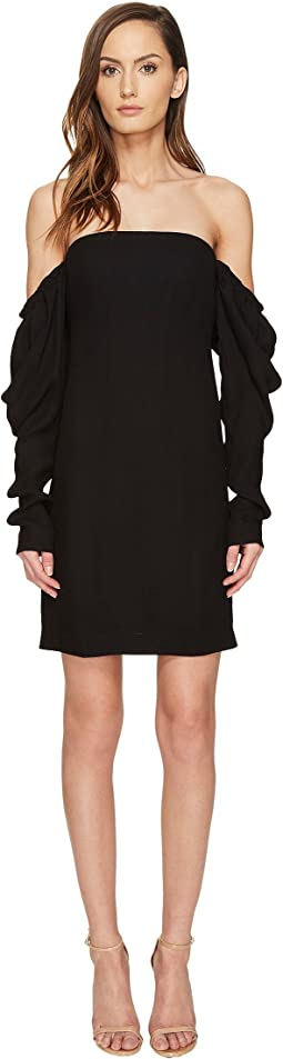 Off the Shoulder Shift Dress with Draped Sleeve