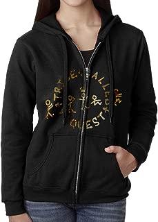 SoSoily Hoodie Sweatshirt Women's A Tribe Called Quest Long Sleeve Zip-up Hooded Sweatshirt Jacket