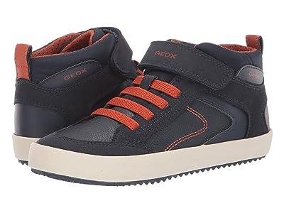Geox Kids Jr Alonisso 41 (Little Kid/Big Kid) (Navy/Orange) Boys Shoes