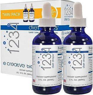 Creative Bioscience 1234 Diet Drops for Women & Men - Diet Drops for Weight Management - Original Amino Complex, 2 Fl Oz (Twin Pack)