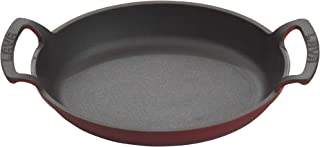 Enameled Cast Iron Oval Cookware Casserole Pan with Handles - 30 oz - Red - Pre-Seasoned - Oven Safe up to 700°F & Dishwas...