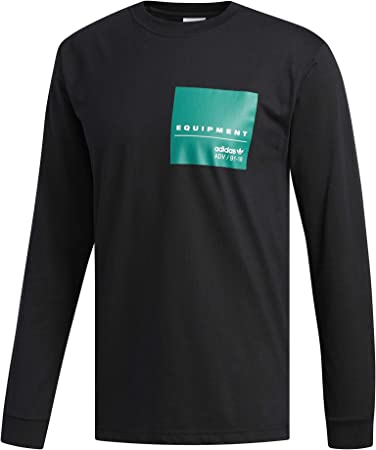 biblioteca Apariencia despierta  adidas EQT L/S GR Tee – Men's T-Shirt, Black (Black): Amazon.co.uk: Clothing