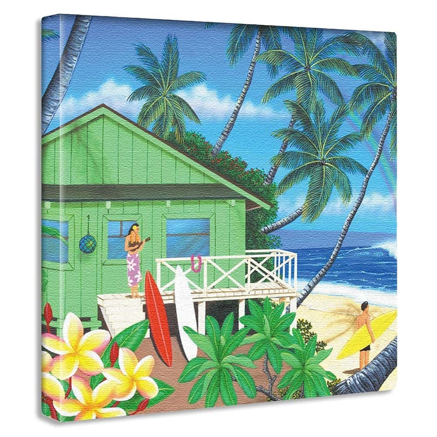 幻想離婚るアートデリ ポスター パネル HILO KUME 30cm × 30cm ヒロクメ 日本製 軽量 ファブリック ハワイ ハワイアンhrk-0008