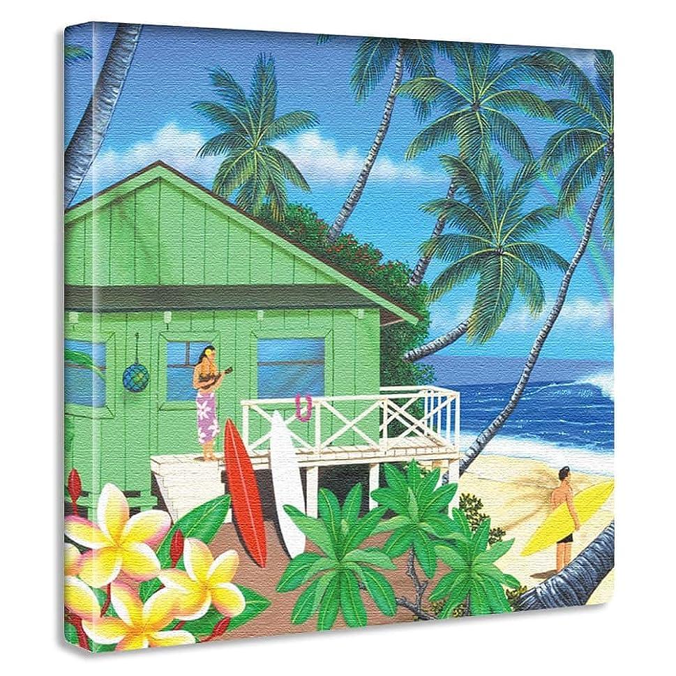 ユーモア自分消化アートデリ ポスター パネル HILO KUME 57cm × 57cm ヒロクメ 日本製 軽量 ファブリック ハワイ ハワイアンhrk-0008-L
