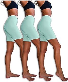 Sexy Basics-3Pack Sheer & Sexy para Mujer Culote algodón Spandex Yoga Pantalones Cortos de Ciclismo para Hombre