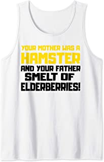 Your Mother was a Hamster Funny Quote Tank Top