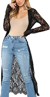 Women's Fashion Lace Kimono Cardigan Sexy Hollow Out Crochet Swimsuit Beach Cover up