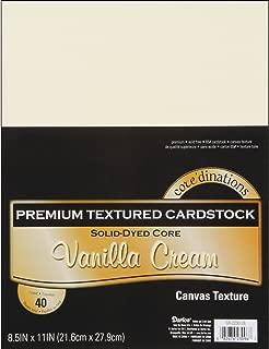 Darice GX-2200-28 Vanilla Cream Textured Cardstock Value Pack: 8.5 X 11