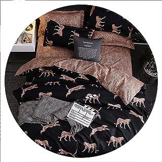 Secret-shop Bedding Set Childish Elephant Bear Eyelash Print King Queen Size Linens Duvet Cover Pillowcases Brief Bed Covers,KY,UK Double 200x200cm
