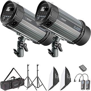 Neewer Kit Flash Studio 500W - Lampe Studio Strobe et Softbox:(2)250W Spot Projecteur,(2)Support,(2)Softbox,(1)RT-16 Décle...