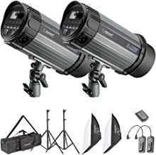 Neewer Photo Studio Strobe Flash Light and Softbox Lighting Kit:(2)250W Monolight Flash,(2)Light Stands,(2)Softbox,(1)RT-16 Wireless Trigger,(1)Bag for Video Shooting,Location and Portrait Photography