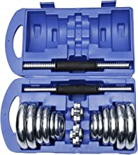 TA Sport 20kg Dumbbell Set With Carry Case - Silver/Blue