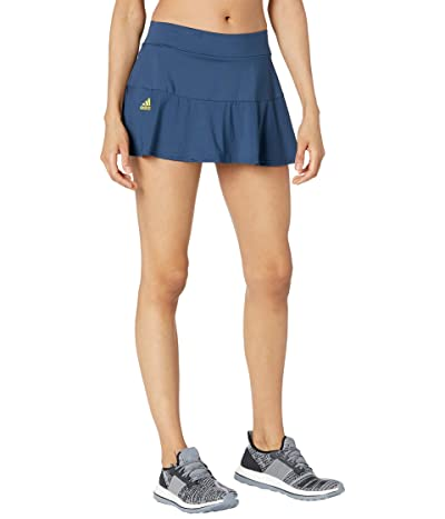 adidas Match Skirt (Crew Navy/Acid Yellow) Women
