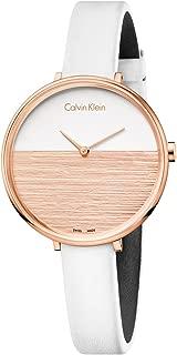 Calvin Klein Womens Quartz Watch, Analog Display and Leather Strap K7A236LH-