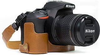 MegaGear Estuche Ever Ready Media Funda Estuche de Base Funda de Cuero de Pronto Uso con Correa Compatible con Nikon D5600 D5500