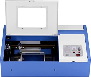 SUNCOO 40W CO2 Laser Engraving Machine Engraver Cutter 12x8 Inch with USB Port for Windows System Only (Blue)