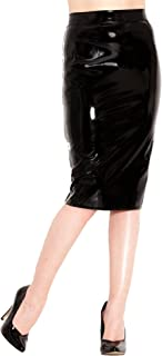 Honour Women's Classic Pencil Skirt Old Hollywood Style in PVC