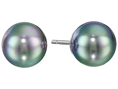 Majorica 8mm Pearl SS Earrings (Gray) Earring