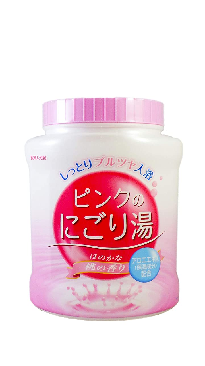 ほぼナインへでも薬用入浴剤 ピンクのにごり湯 ほのかな桃の香り 天然保湿成分配合 医薬部外品 680g
