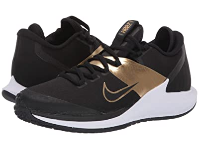 Nike Court Air Zoom Zero HC (Black/Black/Metallic Gold/White) Men